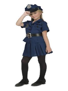 disfraz de policia local para niña