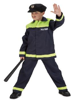 Disfraz de policía local para niño. Con este disfraz de Policía infantil te convertirás en un auténtico agente de la justicia.Este disfraz es ideal para tus fiestas temáticas de disfraces de policías para niños infantiles.
