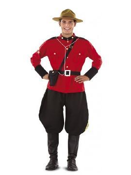 disfraz de policia montaña canada hombre