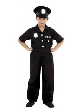 disfraz de policia para niño negro