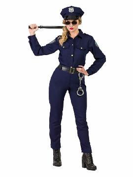 disfraz de policia new york mujer