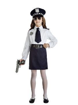 disfraz de policia para niña infantil. Con este traje de Policía te convertirás en un auténtico agente de la justicia. Este disfraz es ideal para tus fiestas temáticas de disfraces de policías