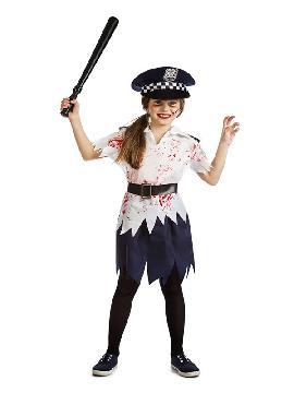 disfraz de policia zombie para niña