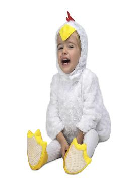 disfraz de pollito blanco peluche para niño