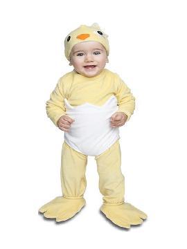 disfraz de pollito saliendo del cascaron bebe