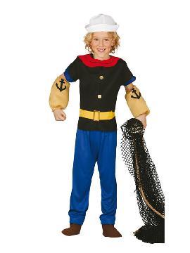 disfraz de popeye marino niño