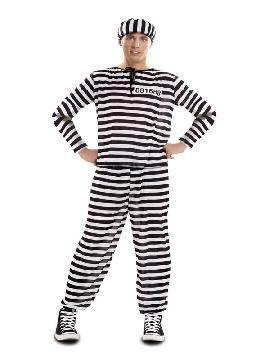 disfraz de preso barato hombre