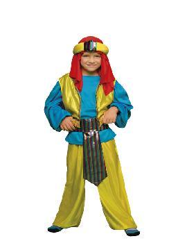 Disfraz de príncipe árabe niño. Serás el más rico y poderoso en tus Fiestas Temáticas, navidad o cabalgatas de reyes. Prepárate para que todas las niñas caigan rendidas a tus pies, y deseen ser tu princesa.