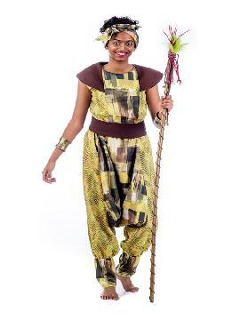 disfraz de princesa africana mujer. Vete preparando ese ritmo zulu con el que lucirás a la perfección. Únete al resto de la tribu para disfrutar del Carnaval.Este disfraz es ideal para parejas y tus fiestas temáticas de disfraces del mundo,países y regionales adulto fabricación nacional