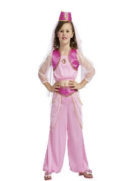 disfraz de princesa arabe rosa niña