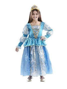 disfraz de princesa azul de cuento niña