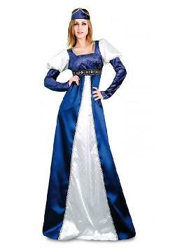disfraz de princesa azul y blanco mujer