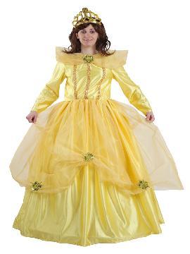 Disfraz de princesa bella mujer. Compra tu disfraz barato mujer adulto para tu grupo. Este traje es ideal para tus fiestas temáticas de princesa bella y la bestia de cuento. Este traje es ideal para tus fiestas temáticas de princesa bella de cuento.