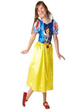 disfraz de princesa blancanieves classic niña infantil. Te sentirás una auténtica princesa disney de tus fiestas de cumpleaños o escolares.Este disfraz es ideal para tus fiestas temáticas de disfraces de princesas y principes para niñas.