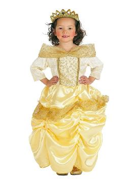 disfraz de princesa de cuento bella para niña