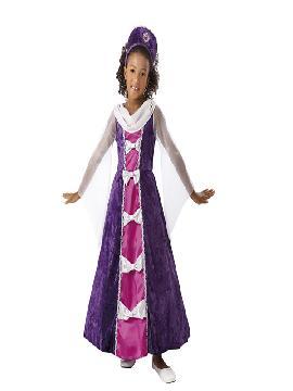 disfraz de princesa lavanda niña