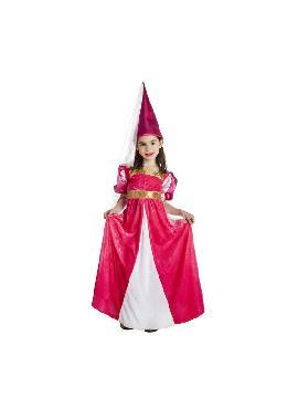 disfraz de princesa medieval rosa niña
