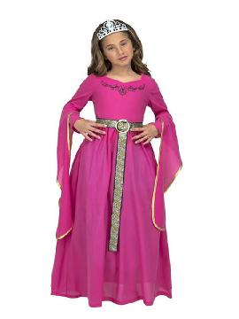 disfraz de princesa medieval rosa para niña