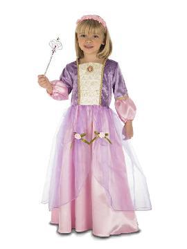 disfraz de princesa morada niña