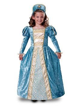 disfraz de princesa romantica azul para niña