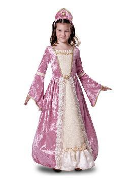 disfraz de princesa romantica rosa para niña