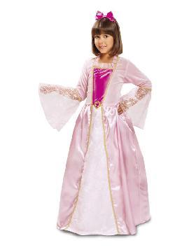 disfraz de princesa rosa con estrellas niña