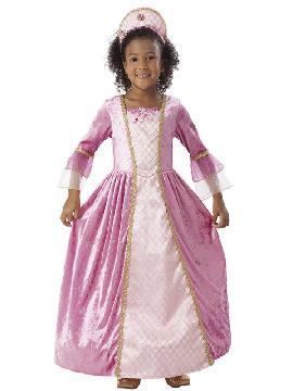 disfraz de princesa rosa deluxe niña