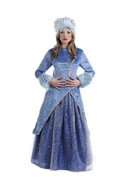 disfraz de princesa rusa azul deluxe mujer