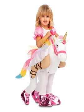 disfraz de princesa unicornio a hombros para niña