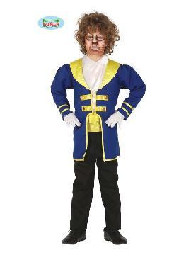 disfraz de principe bestia niño