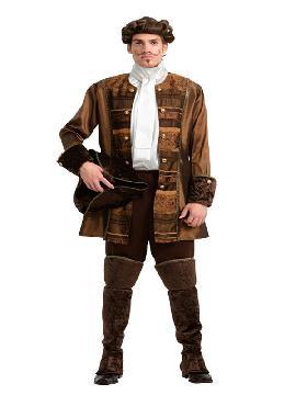 disfraz de príncipe gótico lujo hombre. Te convertirás en una auténtica hombre de la época medieval cuando lleves este traje de medieval en representaciones teatrales, bodas medievales y mercados. Este disfraz es ideal para tus fiestas temáticas de disfraces principes, época y medievales para la edad media adultos.