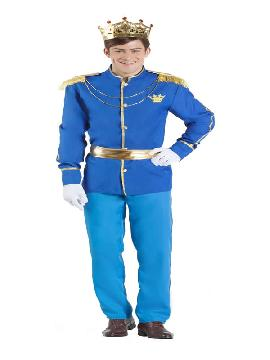 disfraz de principe real azul hombre