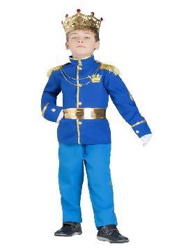 disfraz de principe real azul niño
