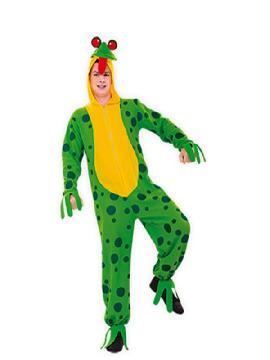 disfraz de rana divertida hombre