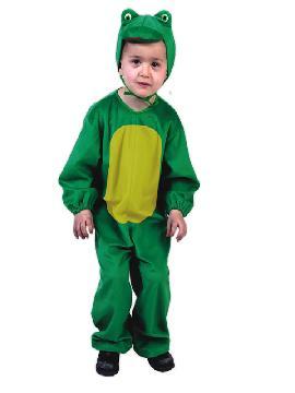disfraz de rana verde infantil. Compra tu disfraz barato y transformarás a los pequeños de la familia en el conicido personaje de Barrio Sésamo.  Viste a tu reportero verde  preferido en  fiestas temáticas, escolares y animales