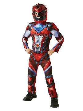 disfraz de ranger rojo power rangers deluxe niño