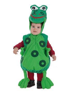 disfraz de ranita verde para bebe