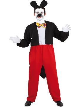 Disfraz de ratón mickey hombre. Este traje simula al del famoso ratón de los cuentos de disney y con el que podrás sorprender en tus fiestas de disfraces y temáticas. Este disfraz es ideal para tus fiestas temáticas de disfraces de animales para hombre adultos