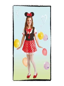disfraz de ratita minie para niñas.Tendrás en casa un divertido roedor que será la atracción de todas las fiestas de disney. Este disfraz es ideal para tus fiestas temáticas de disfraces de animales para niñas infantiles.