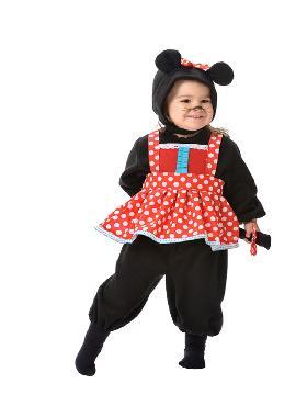 disfraz de ratita minnie bebe varias tallas. La más pequeñita de la familia será la minnie mouse de su Fiesta de la Guardería. Este disfraz es ideal para tus fiestas temáticas de animales y cuentos para infantil. fabricacion nacional
