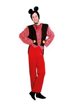 disfraz de raton mickey barato hombre adulto. Este traje simula al del famoso ratón de los cuentos de disney y con el que podrás sorprender en tus fiestas de disfraces y temáticas. Este disfraz es ideal para tus fiestas temáticas de disfraces de animales para hombre adultos