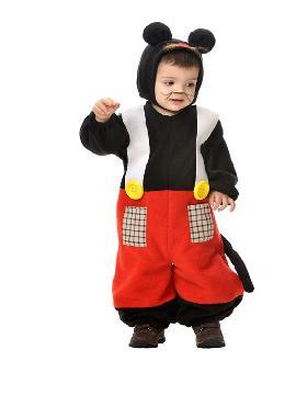 Disfraz de ratón mickey para bebé. Los más pequeños de la casa se transformarán en elegantes roedores. En sus fiesta disney vestido de Mickey Mouse. Este disfraz es ideal para tus fiestas temáticas de animales y cuentos para infantil. fabricacion nacional