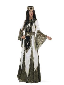 disfraz de reina de las cruzadas mujer