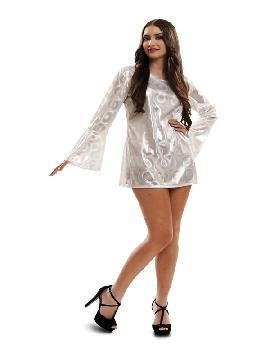 disfraz de reina disco blanco mujer