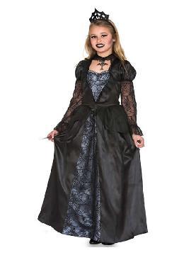 disfraz de reina malvada gotica para niña
