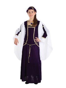 disfraz de reina medieval deluxe niña