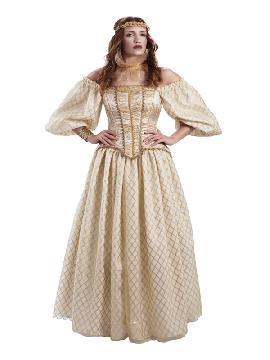disfraz de reina medieval isabel de inglaterra mujer