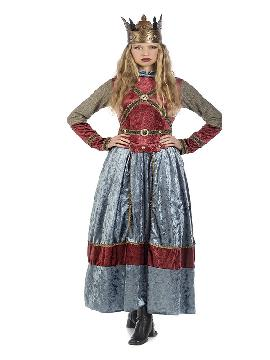 disfraz de reina medieval isabel mujer