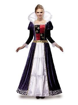 disfraz de reina medieval lujo para mujer