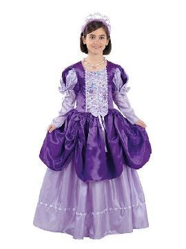 disfraz de reina morada niña